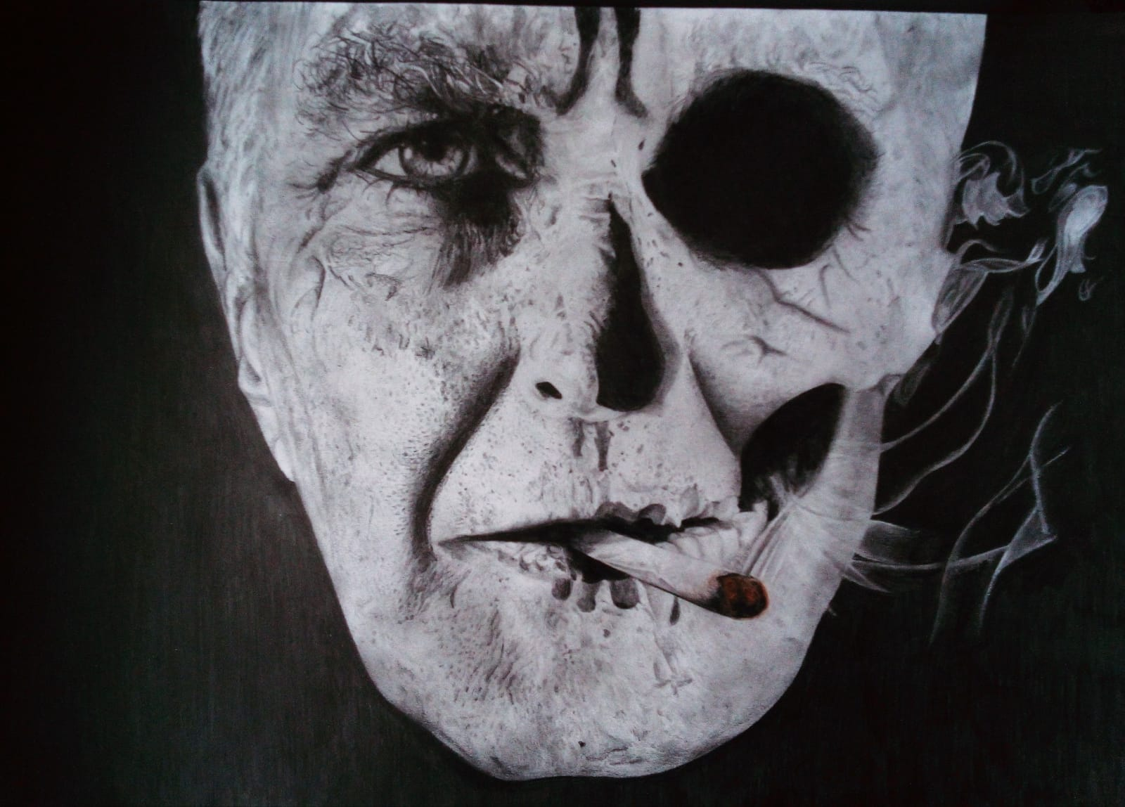 Addicted to Death - drawing by Elisa Neri