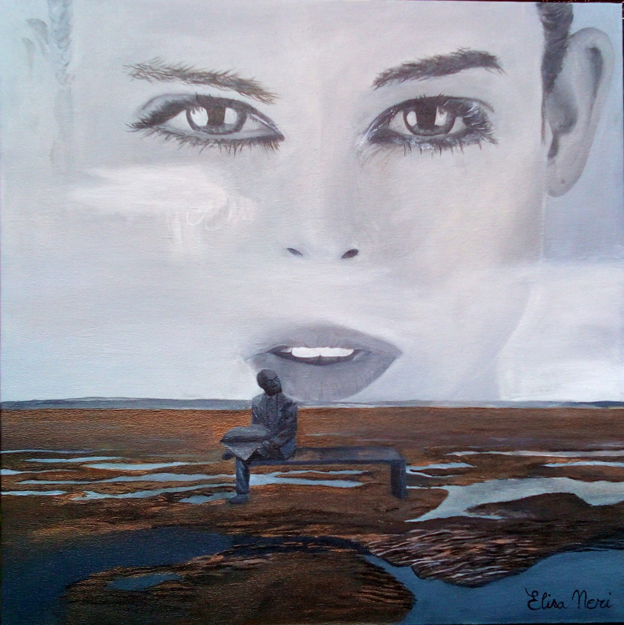 I will wait for you - painting by Elisa Neri